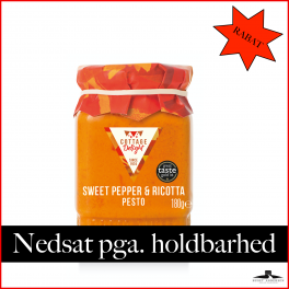 Sød Peber & Ricotta ost Pesto 180gr.  (31.07.2021) 50% RABAT.